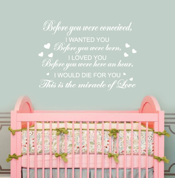 Exceptional Attractive Baby Nursery Wall Stickers Quotes Pictures Design